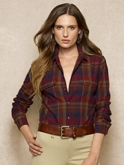 Plaid Camp Shirt at Ralph Lauren