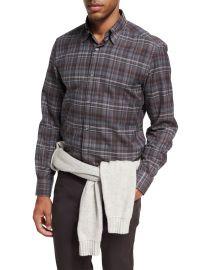 Plaid Cotton Shirt by Ermenegildo Zegna at Neiman Marcus