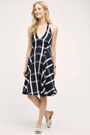 Plaid Halter Dress at Anthropologie