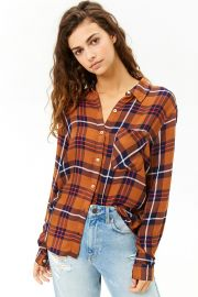 Plaid High-Low Shirt at Forever 21