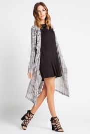Plaid Kimono Trench at Bcbgeneration