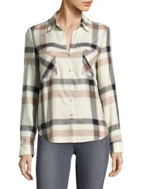 Plaid Long-Sleeve Button-Down Shirt LAgence at Saks Off 5th