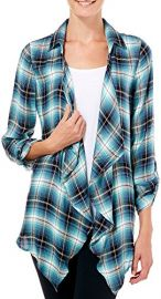Plaid Open Front Shirt at Kohls