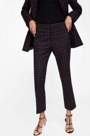 Plaid Pants at Zara