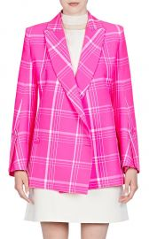 Plaid Virgin Wool-Blend Double-Breasted Blazer at Barneys