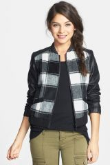 Plaid baseball jacket at Nordstrom Rack