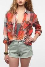 Plaid burnout shirt by ByCorpus at Urban Outfitters at Urban Outfitters