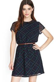 Plaid collared dress at Forever 21