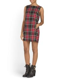 Plaid shift dress by BB Dakota at TJ Maxx
