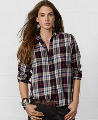 Plaid shirt by Ralph Lauren Denim and Supply at Macys