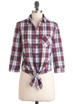 Plaid shirt with tie front from Modcloth at Modcloth