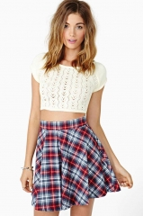 Plaid skater skirt at Nasty Gal