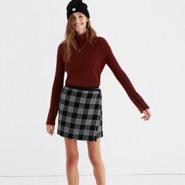 Plaid skirt at Madewell