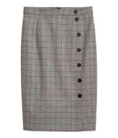 Plaid skirt at H&M