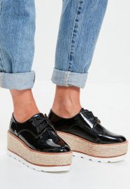 Platform lace up brogues at Missguided