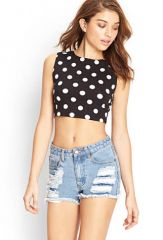 Playful Polka Dot Crop Top at Forever 21