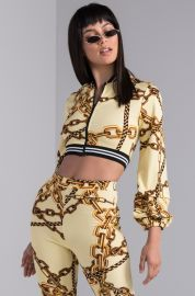 Playing in Chains Cropped Jacket by Akira at Shop Akira