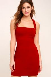 Playtime red dress at Lulus