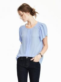 Pleat sleeve top at Banana Republic