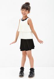 Pleated Bow Top Kids at Forever 21