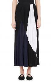 Pleated Colorblocked Midi-Skirt Proenza Schouler at Barneys