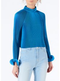 Pleated Cropped Top by Tibi at Tibi