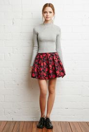 Pleated Floral Skirt  Forever 21 - 2000180085 at Forever 21