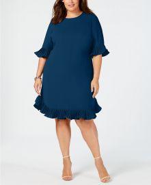 Pleated Flounce Dress at Macys