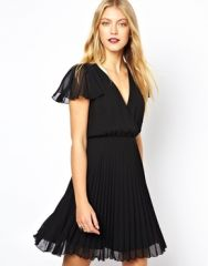 Pleated Frill Skater Dress at Asos