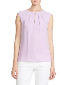 Pleated Keyhole Top at Lord & Taylor