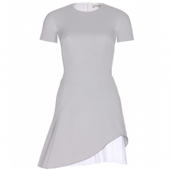 Pleated Silk and Wool Blend Dress by Victoria Beckham at My Theresa