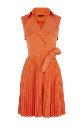 Pleated Trench Dress at Karen Millen