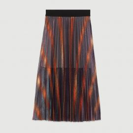 Pleated and Iridescent Long Skirt by Maje at Maje