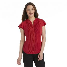 Pleated blouse at Sears