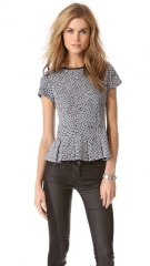 Pleated croc top by Rebecca Taylor at Shopbop