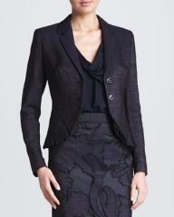 Pleated cutaway jacket by Escada at Neiman Marcus