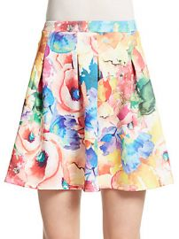 Pleated floral skirt at Saks Off 5th