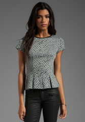 Pleated tee by Rebecca Taylor at Revolve
