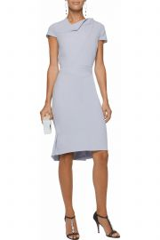 Pleated wool-crepe dress by Roland Mouret at The Outnet