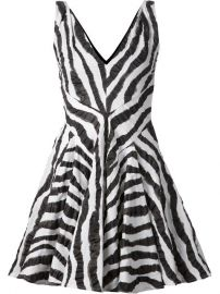 Plein Sud Zebra Print Flared Dress - at Farfetch