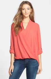 Pleione Faux Wrap Blouse at Nordstrom