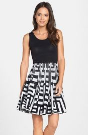 Plenty by Tracy Reese and39Amberand39 Print Skirt Fit andamp Flare Sweater Dress at Nordstrom