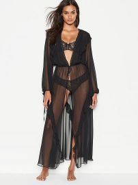 Plunge Ruffle Robe at Victorias Secret