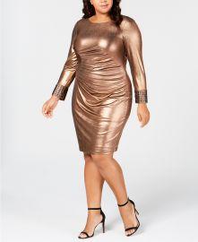 Plus Size Metallic Bodycon Dress at Macys