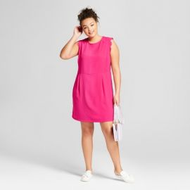 Plus Size Scallop Sleeve Crepe Dress by Target at Target