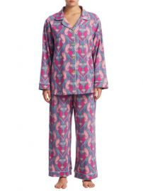 Plus Size Stretch Paisley Cotton Pajama Set by BEDHEAD PAJAMAS at Gilt at Gilt