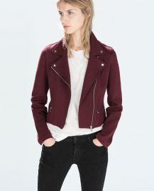 Plush Biker Jacket at Zara