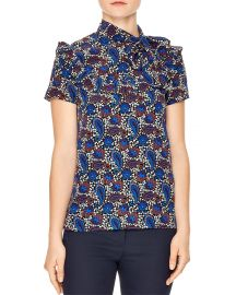 Poe Paisley Silk Top at Bloomingdales