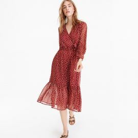 Point Sur Faux-wrap Dress in Sparkle Floral at J. Crew
