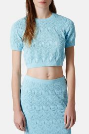 Pointelle Crop Top at Nordstrom Rack